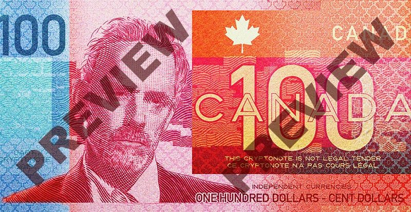$100 Canada Stablecoin Banknote, featuring Jordan Peterson