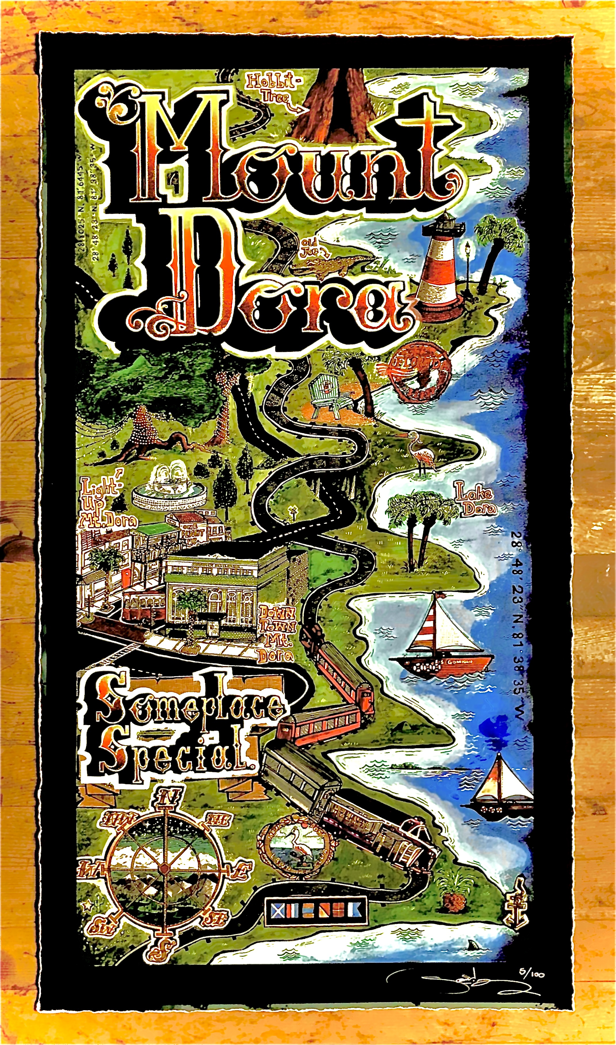 Illustrated Map of Mount Dora, Florida