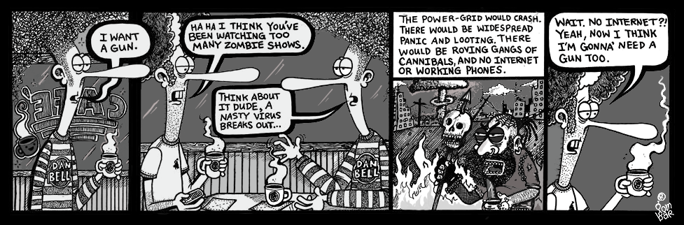Original NORMAN® Daily Comic Strip by Aaron Gombar.